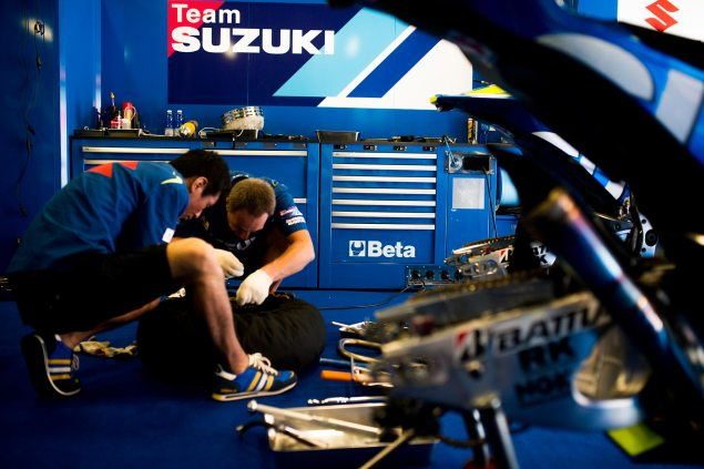 Video: Suzuki MotoGP Development Report, Part 1 suzuki motogp test 635x423