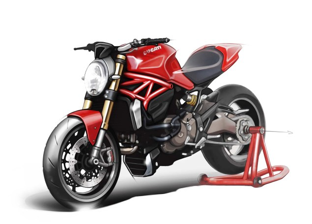 2014 Ducati Monster 1200 Mega Gallery 2014 Ducati Monster 1200 concept 15 635x456