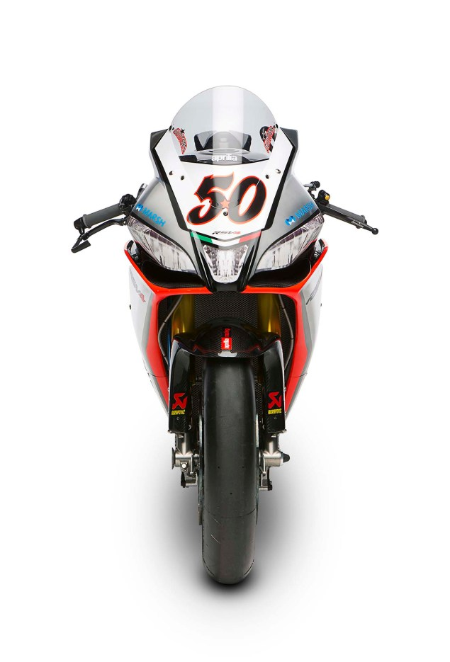 Photos: Aprilias World Superbike Silver Fireball Livery Aprilia RSV Factory Silver Fireball livery Team Launch WBSK 24 635x935