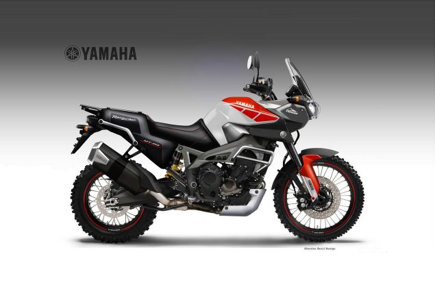Yamaha MT 09 Worldcrosser Concept by Oberdan Bezzi Yamaha MT 09 Tenere Worldcrosser Oberdan Bezzi 635x425