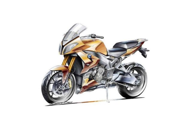 Is BMW Working on an S1000RR Based Sport Tourer? bmw s1000f artist sketch motorrad magazine