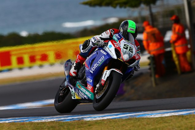 WSBK: Race Results for Race 1 at Phillip Island eugene laverty wsbk phillip island suzuki 635x423