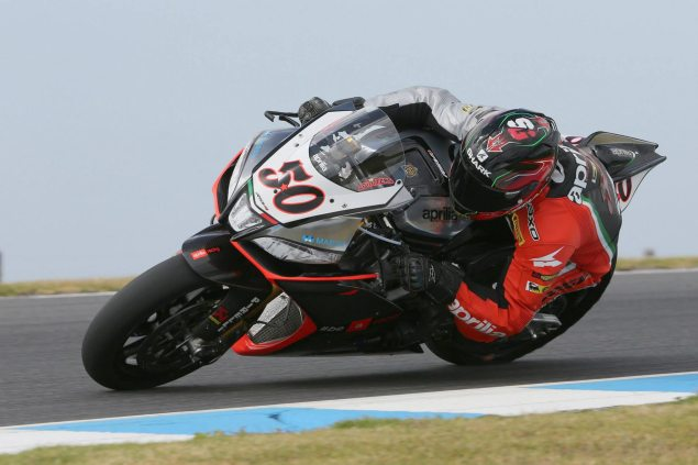 WSBK: Qualifying Results from Phillip Island sylvain guintoli wsbk phillip island aprilia racing 635x423