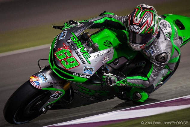 Americans Return to MotoGP: Nicky Hayden Back in Action at Aragon, & Kenny Noyes to Race in Moto2 2014 MotoGP Thursday Qatar Scott Jones 10 635x423