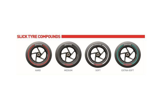 Bridgestone Releases New Color System for MotoGP Bridgestone BATTLAX MotoGP slick tire colors 635x423