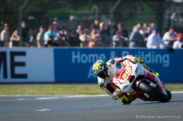 Andrea Iannone Given Penalty Point for Qualifying Move 2014 Saturday Le Mans MotoGP Scott Jones 08 635x422