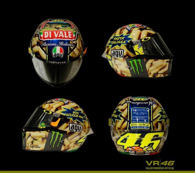 Valentino Rossis Special Mugello Helmet Explained valentino rossi helmet mugello 2014 635x564