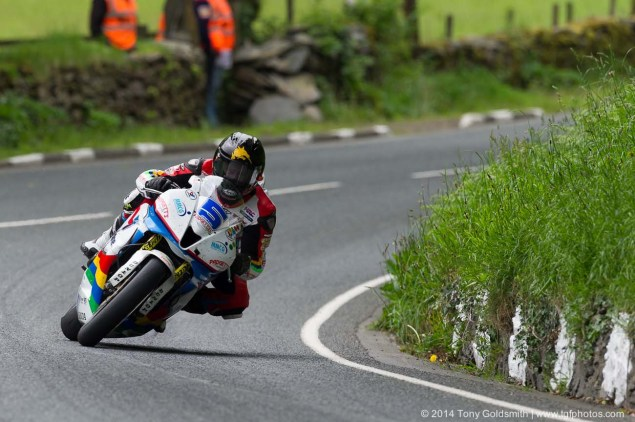 IOMTT: Glen Helen with Tony Goldsmith 2014 Isle of Man TT Glen Helen Tony Goldsmith 57 635x422