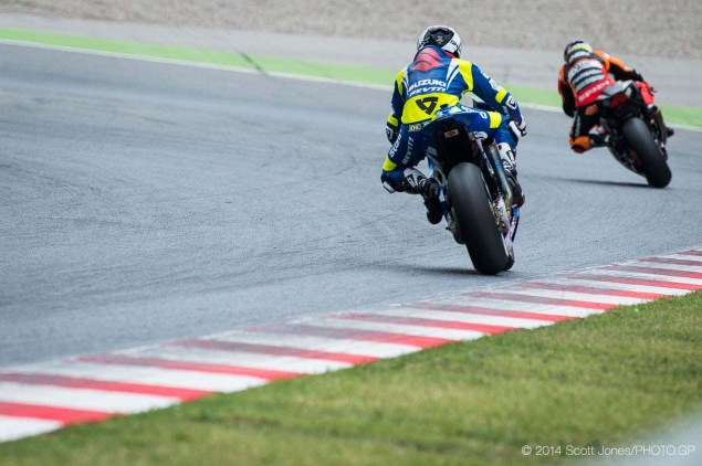 Photos of the Suzuki XRH 1 Testing at Catalunya Suzuki XRH 1 Catalunya Test MotoGP Scott Jones 09 635x422