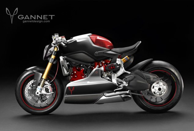 Ducati Café Fighter Concept by Gannet Design Gannet Cafe Fighter Concept 635x429