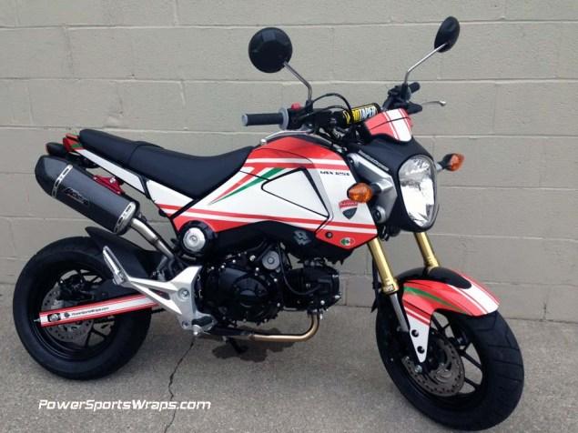 Honda Grom + Ducati Monster = Gromcati Gromcati Ducati Monster Honda Grom X Speed Motorland 06 635x476