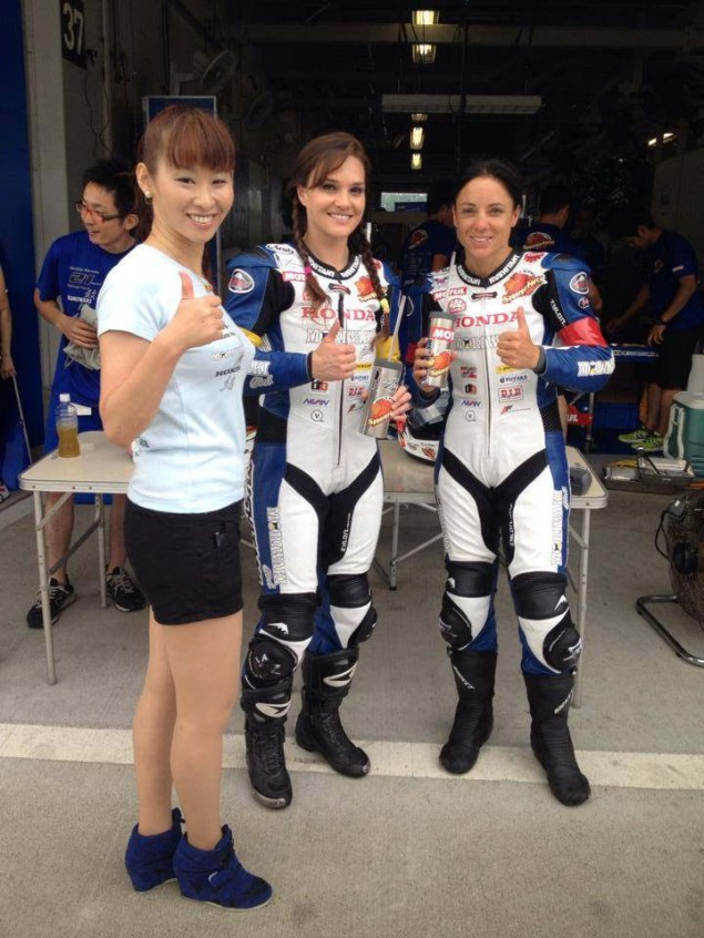 She'z Racing at Suzuka — Game Face, Race Day (Days 3 & 4) Shez Racing Suzuka 4 Hour Shelina Moreda Melissa Paris Race 18 635x846