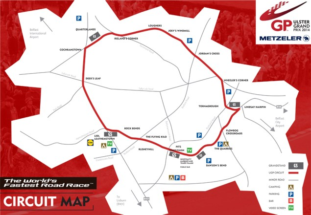 Saturday at the Ulster Grand Prix with Tony Goldsmith UGP PROGRAMME circuit map8 635x440