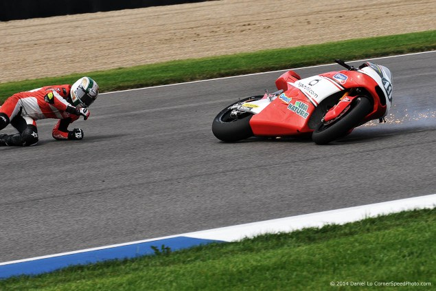 Friday at Indianapolis with Daniel Lo crash Indianapolis MotoGP Daniel Lo 635x423