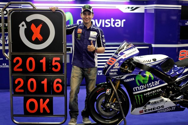 Yamaha Signs Jorge Lorenzo with a Two Year Contract jorge lorenzo yamaha racing motogp 635x423