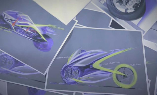 Is This Our First Glimpse of the 2015 Yamaha YZF R1? 2015 Yamaha YZR R1 teaser 01 635x387