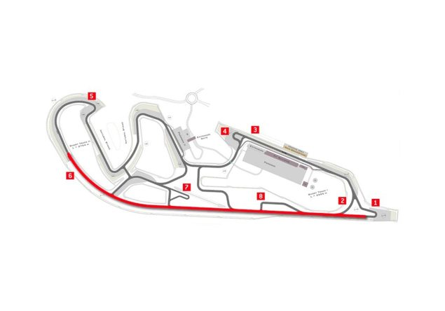 Thursday Summary at Aragon: Marquezs Decline, Haydens Return, The Ducati GP14.2, & Millers MotoGP Move motorland aragon track map 635x444