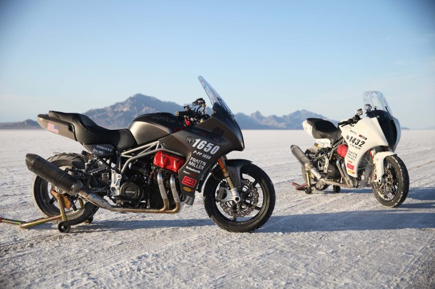 Motus Sets Two Land Speed Records at Bonneville Motus MST R land speed record bonneville 11 635x423