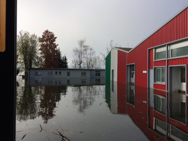 MV Agusta Factory Flooded by Nearby Lake mv agusta varese factory flooding 635x476
