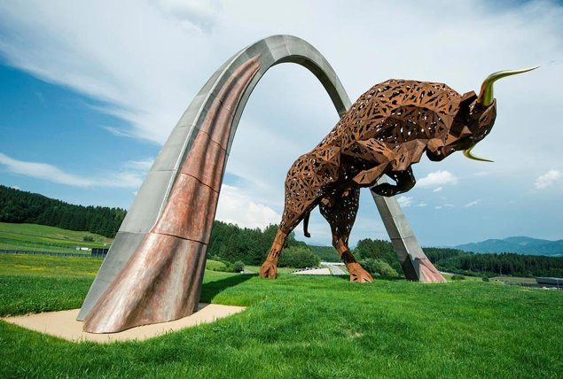 MotoGP Will Race in Austria, Starting in 2016? red bull ring statue 635x428