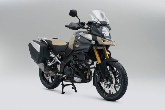 Suzuki V Strom 1000 Desert Edition   So Much Khaki 2015 Suzuki V Strom 1000 Desert Edition 635x423