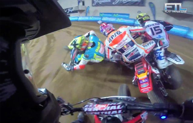 Watch: Marquez vs. Mees at the Superprestigio Superfinal jared mees pov superprestigio 635x405