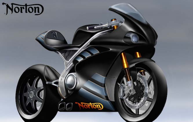 Ducati Panigale 1200cc >> First Sketches of Norton's 200hp 1,200cc V4 Superbike - Asphalt & Rubber