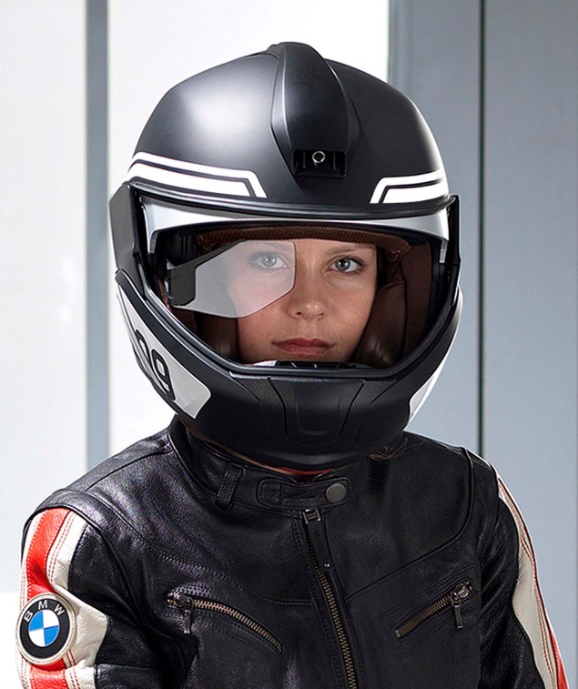 BMW Developing HUD Motorcycle Helmet