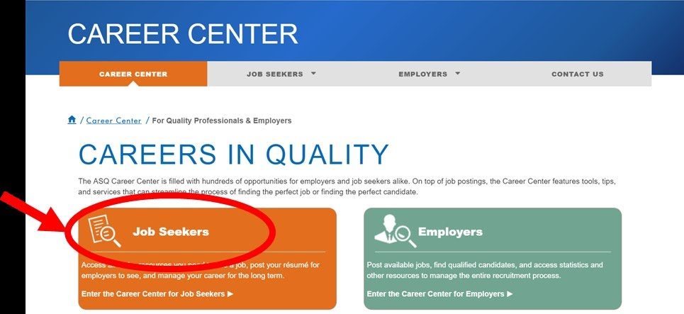 Learn about ASQ\u0027s Career Center OTHER RESOURCES - ASQ Salt Lake - websites to look for jobs