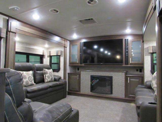 2018 Open Range 3X 387RBS Front Living Room 5th Wheel with King Bed - front living room fifth wheel