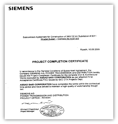 Project Completion Certificate Format Scribd - mandegarinfo - project completion certificate format