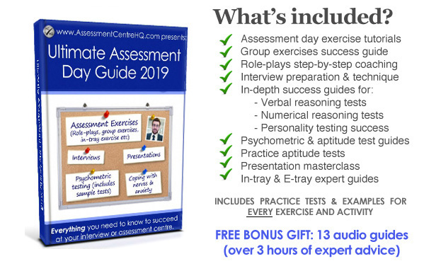 Ultimate Assessment Day  Interview Guide 2019 - The Latest Edition