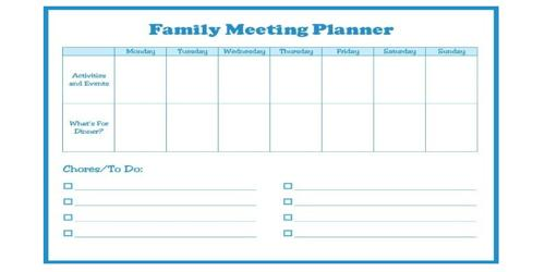 Sample Family Meeting Agenda Format - Assignment Point