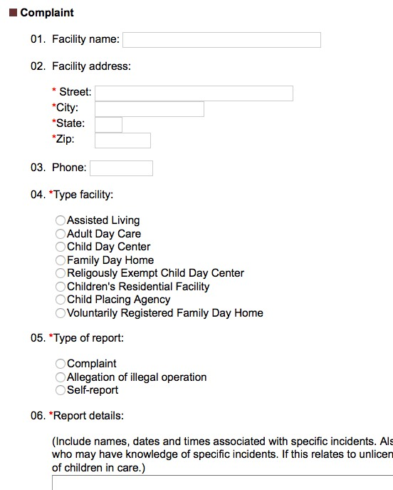 How To File an Assisted Living Facility Complaint in Virginia - free customer complaint form template