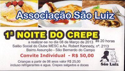 1ª NOITE DO CREPE, PARTICIPE !!!
