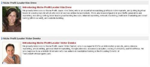 NPC Niche Profit Forum Leaders