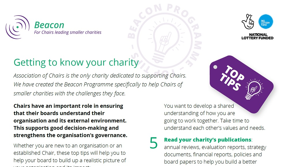 Free checklist for Local Charities Day - Association of Chairs