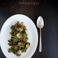Fiddlehead Fern and Artichoke Freekah Salad