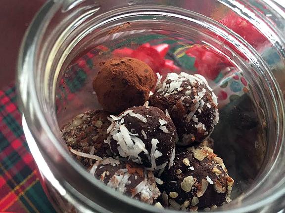 vegan choco truffles gift