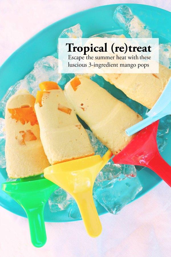 3-Ingredient Mango Coconut Popsicles
