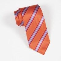 Orange/Pink Stripe Tie