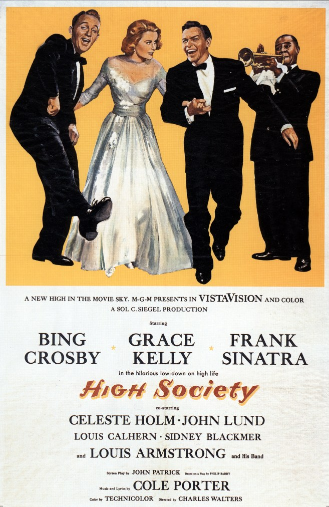 "1956 movie poster, ""High Society"""