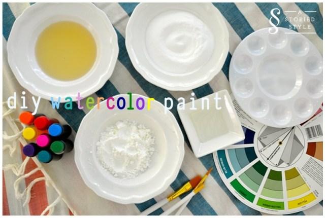 diy watercolor paint