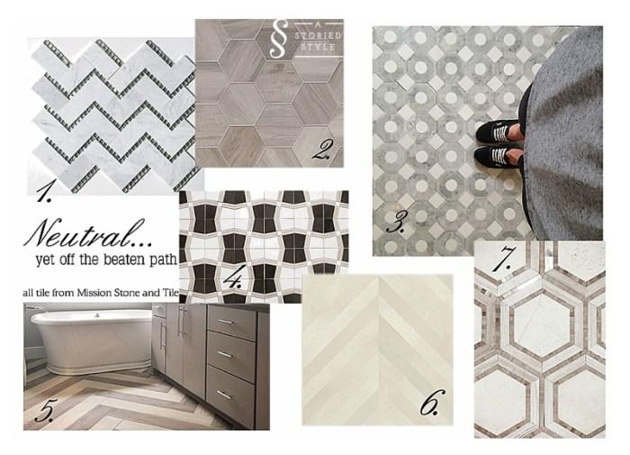 neutral unique tile