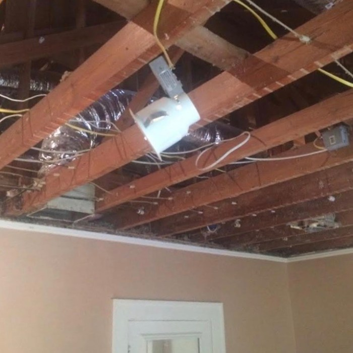 ceiling out