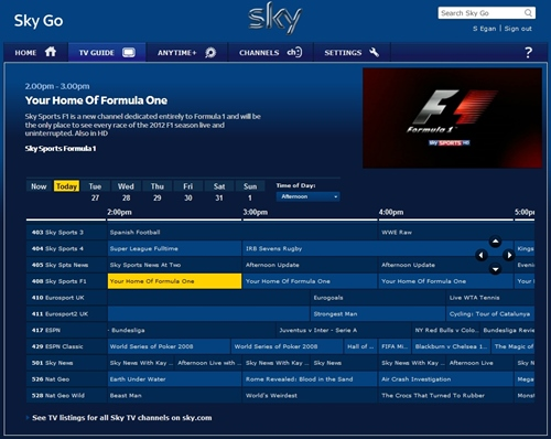 can't remove device on sky go,