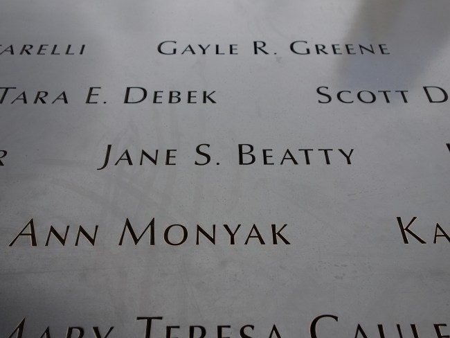 Remembering Jane – Thoughts on 9/11