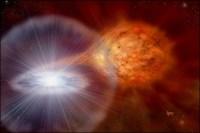 Een witte dwerg explodeert als supernova