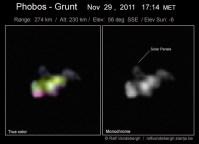 Phobos-Grunt, gefotografeerd door Ralf Vandebergh