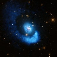 klotsend gas in de cluster Abell 2052